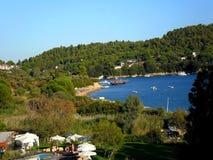 L'île grecque Skiathos Photographie stock libre de droits