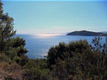 L'île grecque Skiatos Photo stock