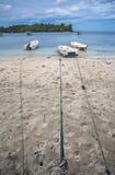 L'île, les bateaux, le nuage et le ciel bleu, belle vue de plage d'Iboih, dans Sabang, l'Indonésie Photos stock
