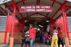 L'île pittoresque de la Sainte-Lucie dans les Antilles Photo stock