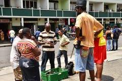 L'île pittoresque de la Sainte-Lucie dans les Antilles Photos stock