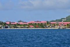 L'île pittoresque de la Sainte-Lucie dans les Antilles Photo libre de droits