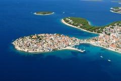 l'île primosten Photo stock