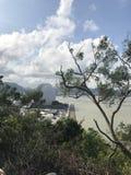 L'île sauvage de castor donne sur Zhuhai photo libre de droits