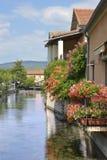 L 'ösurla Sorgue i Frankrike arkivbilder