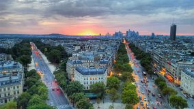 L& x27 Τόξο de†‹Triomphe de l& x27 étoile, Παρίσι, Γαλλία Στοκ Εικόνες