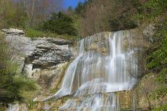 L водопад Eventail `, водопады Herisson Стоковая Фотография RF