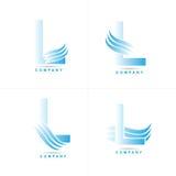l логос письма Стоковые Изображения