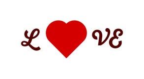 L сердце Ve влюбленности иллюстрация вектора