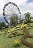 """L """"fleurie de horloge, ou l'horloge de fleur, Genève photos stock"""