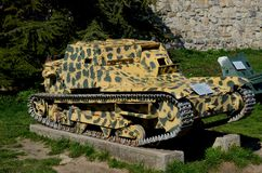 L3/35意大利造的轻的装甲的坦克在贝尔格莱德军事博物馆塞尔维亚 库存图片