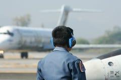 L-39皇家泰国空军Albatros技术队  免版税图库摄影