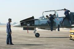 L-39皇家泰国空军Albatros技术队  免版税库存照片