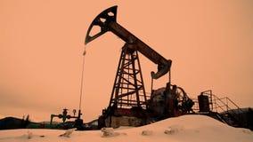 Σκιαγραφία αντλιών πετρελαίου απόθεμα βίντεο