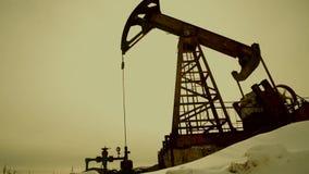 Σκιαγραφία αντλιών πετρελαίου φιλμ μικρού μήκους