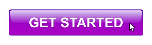 Get started button. Simple get started button editable vector illustration on isolated white background vector illustration