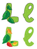 Письмо l листья Стоковое Фото