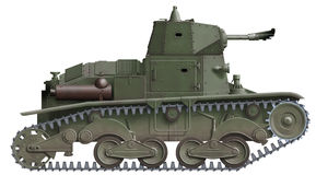 L-6/40 Flamethrower. Computer illustration of italian ww2 flamethrower tank prototype Stock Photography