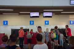 L'aéroport de Burgas Image stock