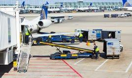 Bagages de Chicago OHare manipulant des improvments Images stock