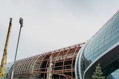 L'aéroport de Domodedovo est en construction, Russie Photographie stock libre de droits