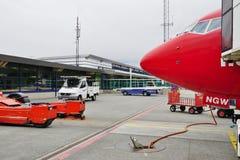 L'aéroport de Harstad-Narvik et le x28 ; EVE& x29 ; dans Evenes, la Norvège Photo libre de droits