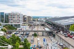 L'aéroport de Stuttgart est l'aéroport international de Stuttgart Photo stock