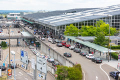 L'aéroport de Stuttgart est l'aéroport international de Stuttgart Photos stock