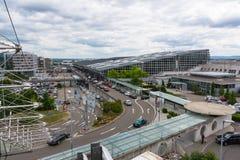 L'aéroport de Stuttgart est l'aéroport international de Stuttgart Images libres de droits