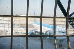 L'aéroport de Suvarnabhumi (BKK) est le hub principal pour Thai Airways Photographie stock