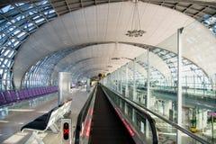L'aéroport de Suvarnabhumi (BKK) est le hub principal pour Thai Airways Photographie stock libre de droits