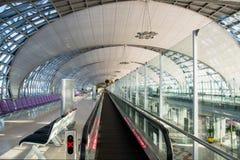 L'aéroport de Suvarnabhumi (BKK) est le hub principal pour Thai Airways (les TG) Photo libre de droits