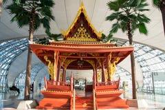 L'aéroport de Suvarnabhumi (BKK) est le hub principal pour Thai Airways (les TG) Photos libres de droits