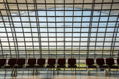 L'aéroport de Suvarnabhumi (BKK) est le hub principal pour Thai Airways (les TG) Photos stock