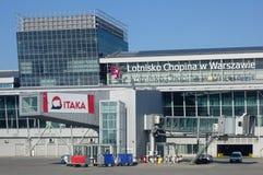 L'aéroport de Varsovie Chopin (WAW) Images libres de droits