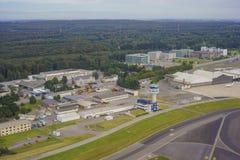L'aéroport du luxembourgeois d'en haut Photographie stock libre de droits