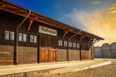 L'aéroport historique de la station de Radegast dans le dź de ³ du  à de Å Photo stock