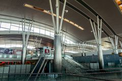 L'aéroport international d'Enfidha Hammamet en Tunisie Image libre de droits