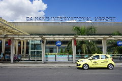 L'aéroport international de Da Nang (PAPA) au Vietnam Images stock