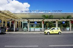L'aéroport international de Da Nang (PAPA) au Vietnam Photo stock