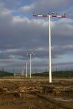 L'aéroport international de Francfort (FRA) - piste d'atterrissage s'allume Photo libre de droits