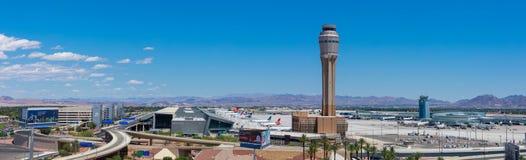 L'aéroport international de McCarran (LAS), situé au sud de la bande de Las Vegas, est l'aéroport principal au Nevada Image libre de droits