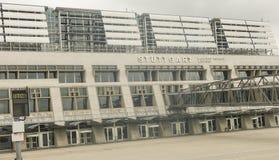 L'aéroport international de Stuttgart, Manfred Rommel Stuttgar Photographie stock libre de droits