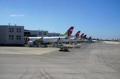 L'aéroport LIS de Lisbonne Portela Image stock