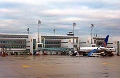 L'aéroport MUC, Allemagne de Flughafen Munich Photo stock