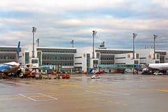L'aéroport MUC, Allemagne de Flughafen Munich Photographie stock