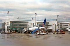 L'aéroport MUC, Allemagne de Flughafen Munich Photo libre de droits