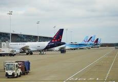 L'aéroport national Zaventem BRU de Bruxelles Image libre de droits