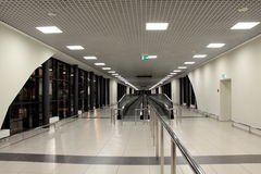 L'aéroport noir et blanc Images libres de droits