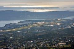 L'aéroport Resnik dans Kastela près s'est dédoublé, la Croatie Photo stock